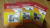Карта памяти MicroSD Transcend + Adapter 8GB 2 class