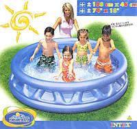 """Детский надувной бассейн INTEX 58431 """"Конус""""круг,3секц(3+ лет)синий,с рем.комплектом, 188*46см IKD"""