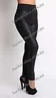 Модные лосины в черном цвете для девушек 5403