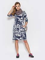 Удобное платье приталенного силуэта миди 90223