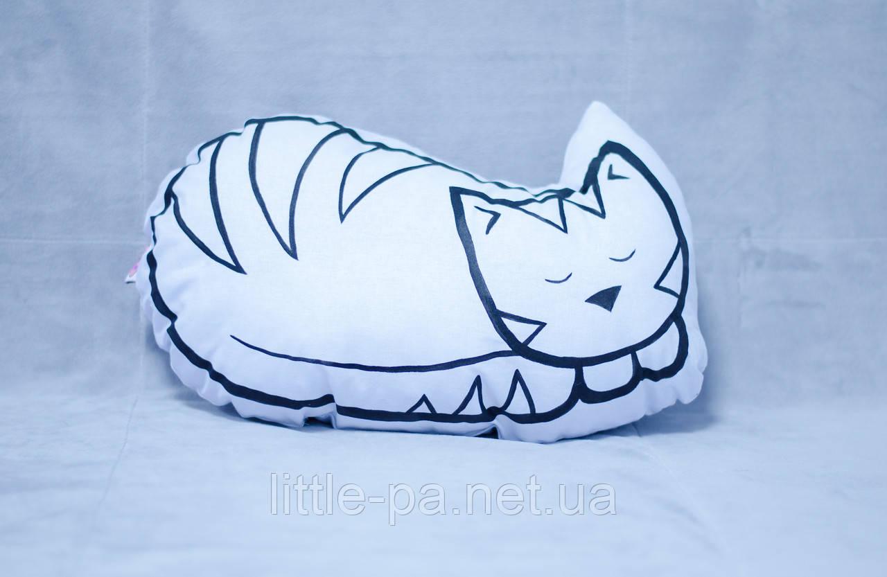 """Подушка из хлопка для кроватки новорожденного """"Кошечка"""""""