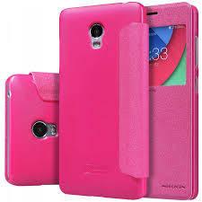 Кожаный чехол (книжка) Nillkin Sparkle Series для Lenovo P70 Розовый
