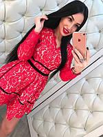 Шикарное женское кружевное платье