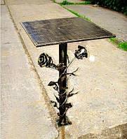 Стол на кладбище с розамы