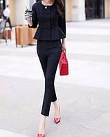 Стильный женский костюм повседневный пиджак и штаны