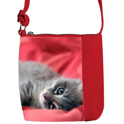 Красная сумочка для девочки Mini Miss Милый котенок