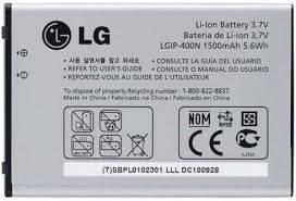 Оригинальный аккумулятор для мобильного телефона LG C310, GT540, GW550, GW620, GX200, GX300 Duos, GX500 Duos, P500, P520 Duos (LGIP-400N)