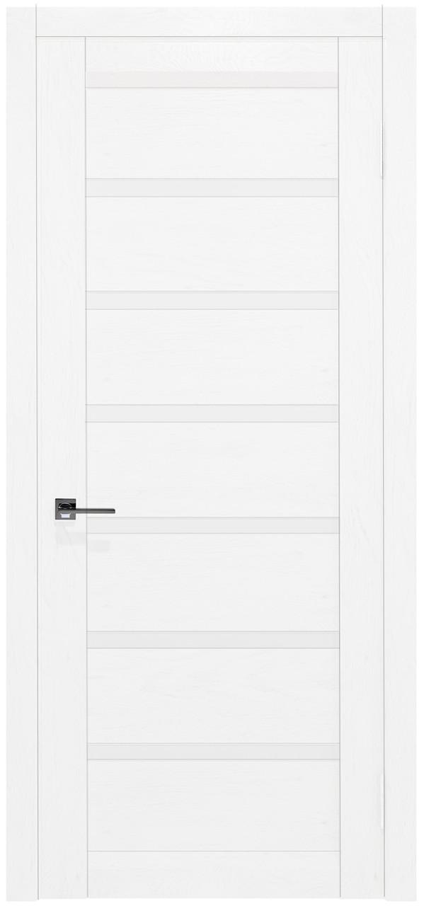 Межкомнатные двери шпонированные дубом, модель Экю ПГ белая. Шпон дубовый