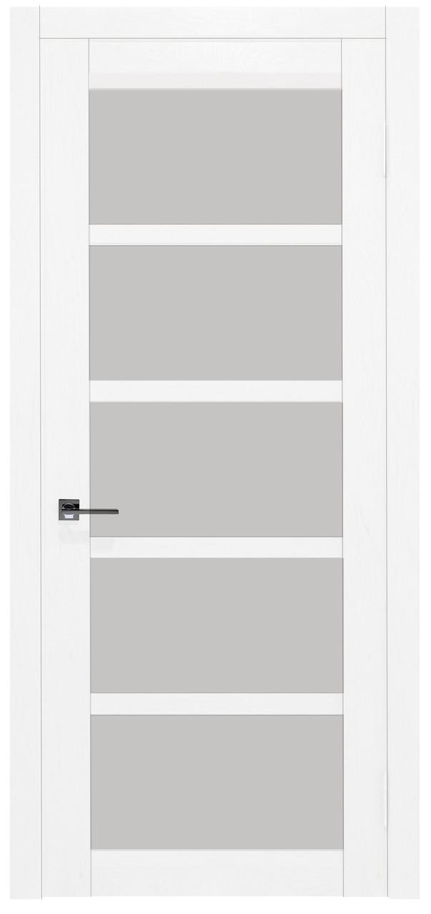 Межкомнатные двери Дукат скло Емаль белоснежна. Шпон дубовый