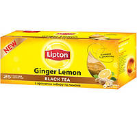 Черный чай Липтон имбирь\лимон 25 пак.