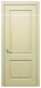 Межкомнатные двери Кандем глуха Емаль кремовая. Шпон дубовый