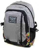 Городской рюкзак нейлоновый Lanpad 3374 серый, фото 1