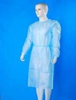 Халат медицинский (для посетителя)на завязках дл.115 см(размер 46-48(М)),спанбонд-30 г/м2,стерильный