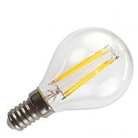 Filament LED лампа BIOM 4W E14 G45 (шар) 4500К