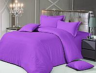 Love You Евро комплект жаккардовый сатин -страйп фиолетовый