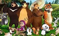 """Вафельная картинка """"Маша и медведь"""" - 1"""