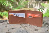 Мужской бумажник классика компакт 3003 (cветло коричневый)