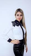 Блуза кружево белый