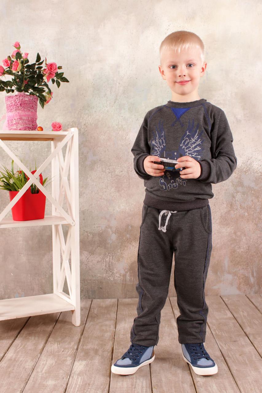 Реглан для мальчика (темно-серый) 3-8 лет