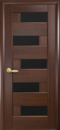 Межкомнатные двери Новый Стиль Пиана черное стекло, фото 2