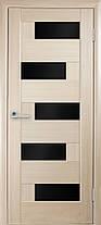 Межкомнатные двери Новый Стиль Пиана черное стекло, фото 3