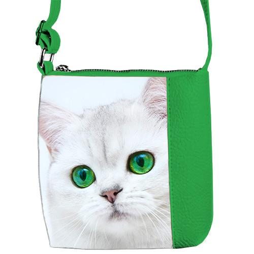 Сумка для девочки Mini Miss с принтом Зеленоглазая кошка