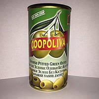 Зелёные оливки без косточки Coopoliva