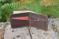 Мужской бумажник классика компакт 3002 (коричневый)