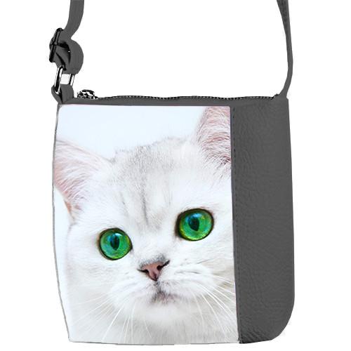 Серая сумка для девочки Mini Miss Кошка