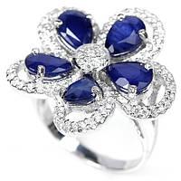 Сапфир, серебро 925, кольцо, 280КС