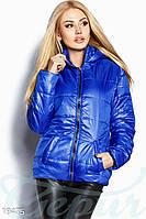 Яркая демисезонная куртка. Цвет синий электрик.