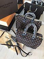 Стильная женская сумка LOUIS VUITTON SPEEDY DAMIER 30 см (реплика), фото 1