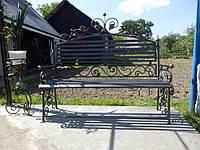 Кованая металичеськая скамейка