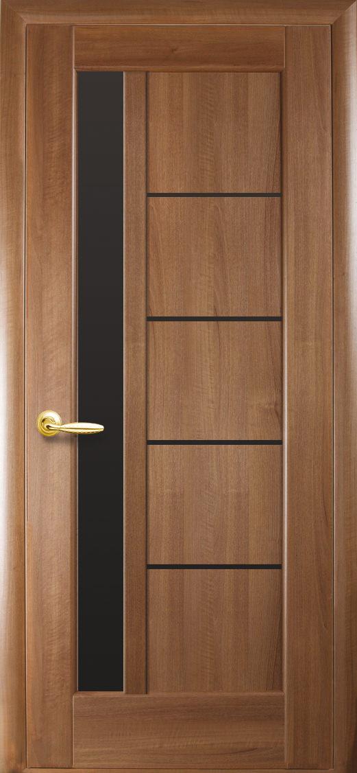 Межкомнатные двери Новый Стиль Грета с черным стеклом
