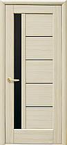 Межкомнатные двери Новый Стиль Грета с черным стеклом, фото 3