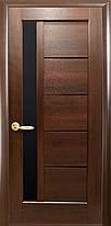 Межкомнатные двери Новый Стиль Грета с черным стеклом, фото 2