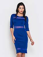 Женское платье с вставками из гипюра рукав три четверти 90221/2, фото 1
