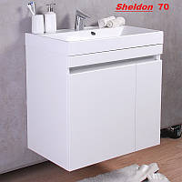 Тумбочка с раковиной FM Sheldon 70 см белая