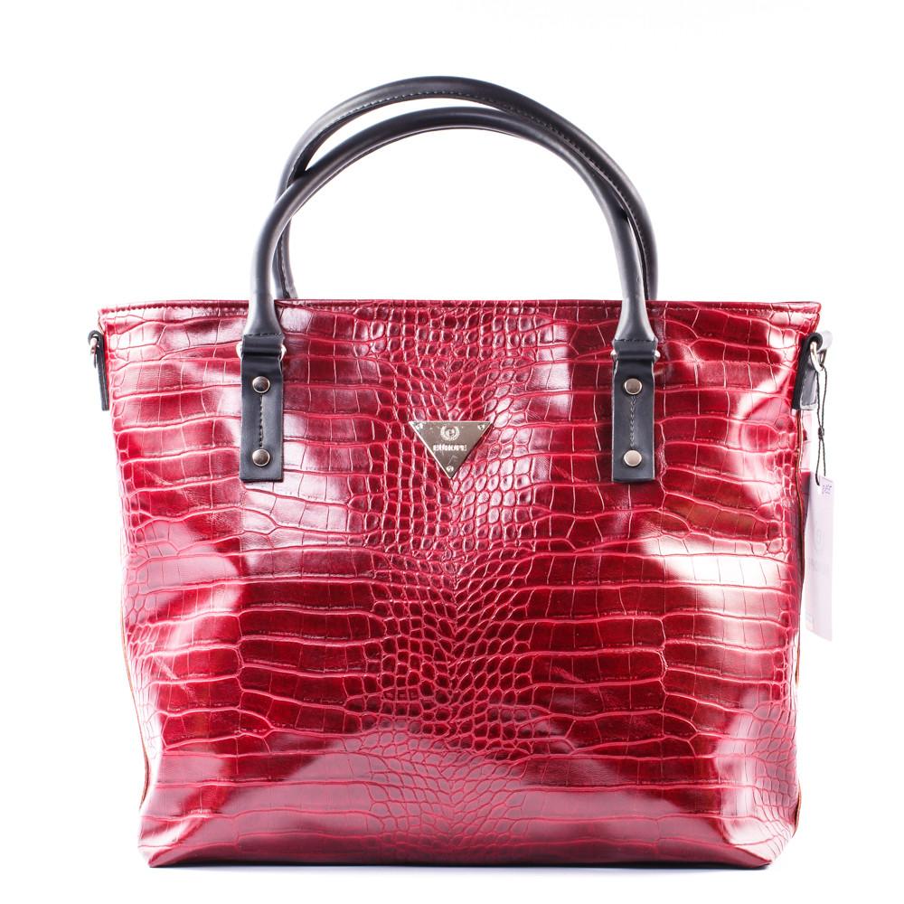 b6f016780462 Большая бордовая сумка в крокодиловой фактуре - Интернет магазин сумок  SUMKOFF - женские и мужские сумки