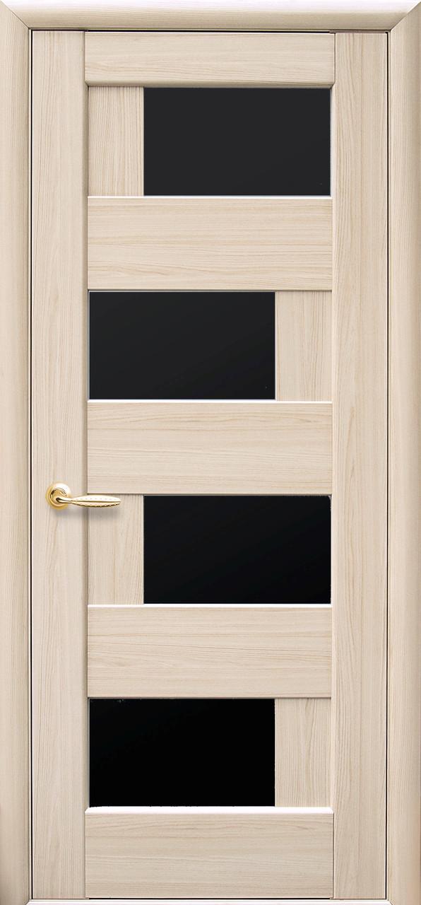 Межкомнатные двери Новый Стиль Сиена черное стекло