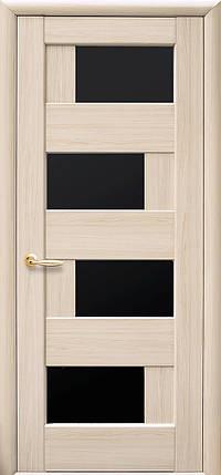 Межкомнатные двери Новый Стиль Сиена черное стекло, фото 2