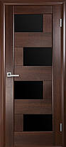 Межкомнатные двери Новый Стиль Сиена черное стекло, фото 3