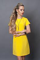 Короткое летнее платье ярко-желтого цвета
