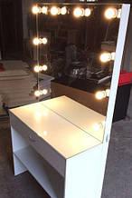 Стол для визажиста с подсветкой, зеркало без рамы и с лампами
