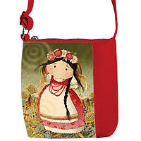 Красная детская сумочка для девочки с принтом Украинка