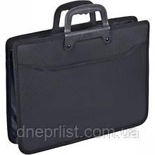Сумка-портфель пластиковая, А4, черная