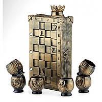 Коньячный набор Шахматы, 7 предметов, фото 1