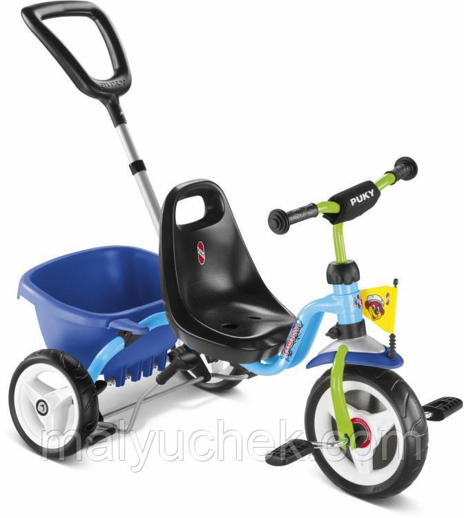 Трехколесный велосипед Puky CAT 1S 2226 blue/kiwi голубой/киви