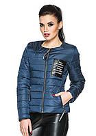 Трендовая куртка с прорезными карманами  ВИОЛА