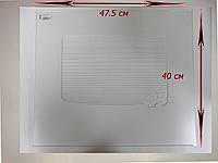 Стекло панорамное белое газовой духовки плиты Гефест (Gefest)  47,5 х 40 см модели 300